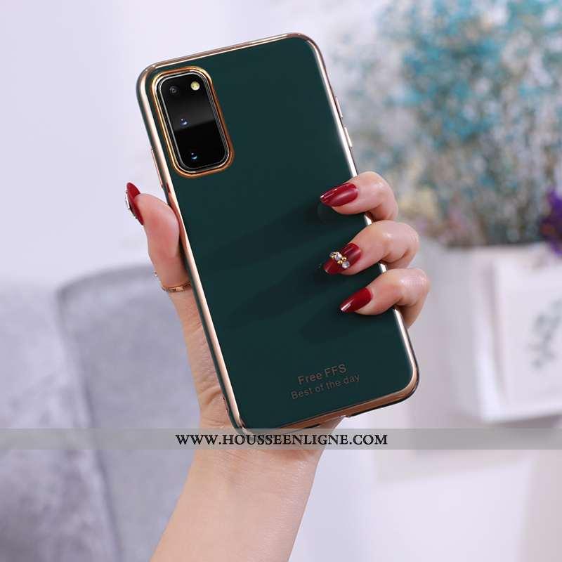 Housse Samsung Galaxy S20 Fluide Doux Étoile Incassable Vert Couleur Unie Coque Téléphone Portable V