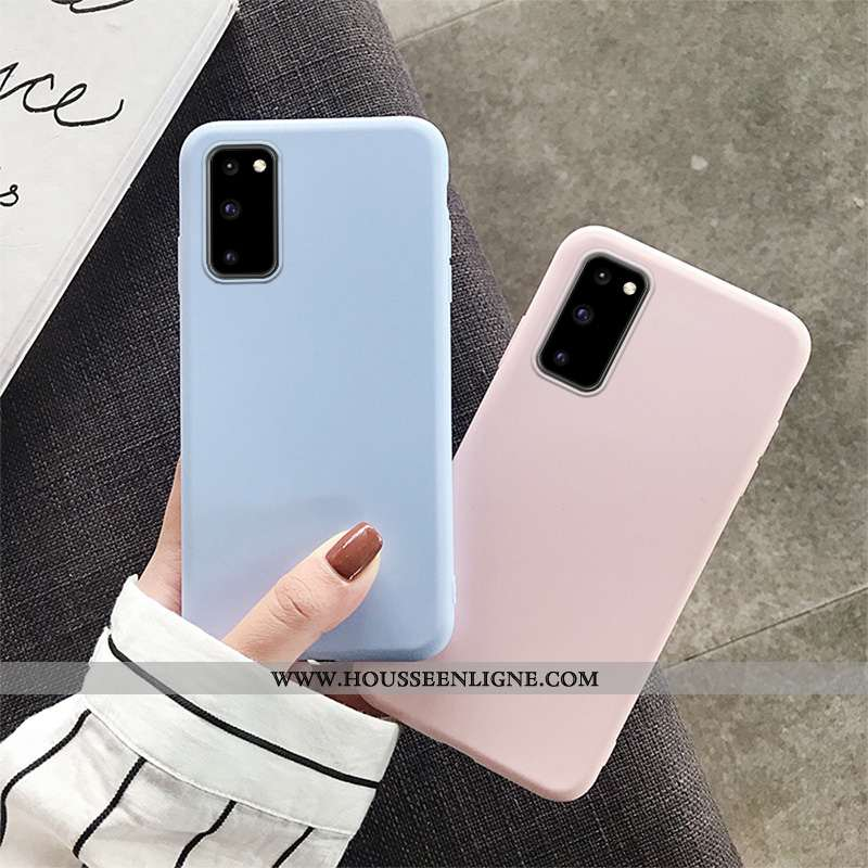 Housse Samsung Galaxy S20 Fluide Doux Silicone Étui Simple Légère Téléphone Portable Tout Compris Bl