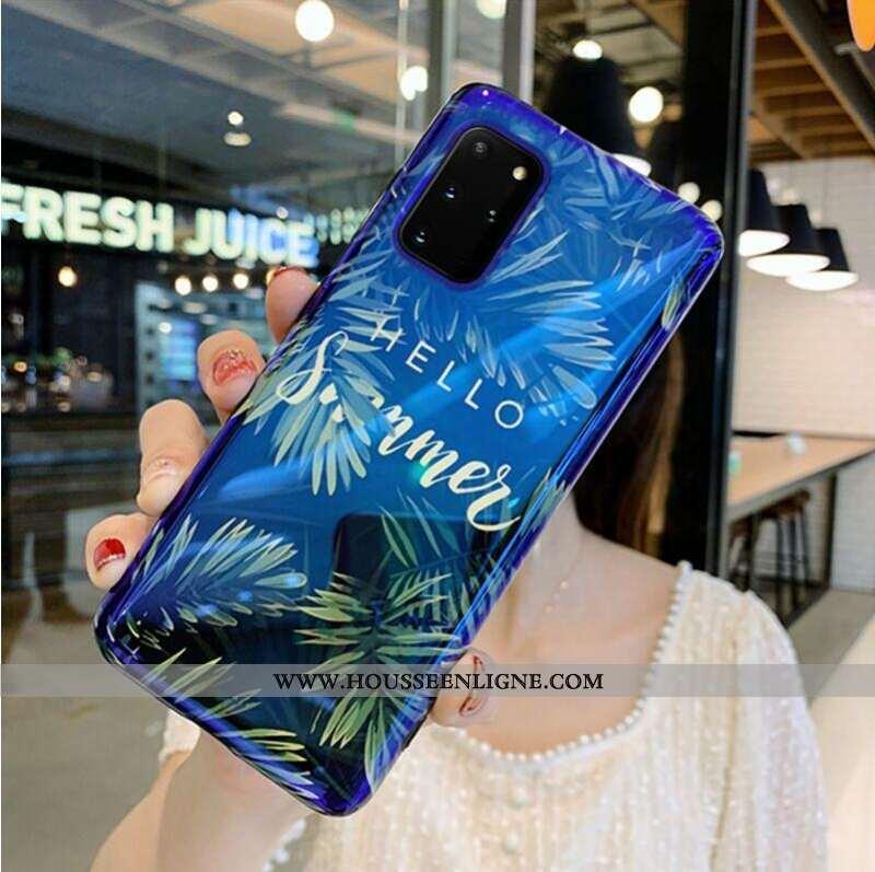 Housse Samsung Galaxy S20+ Luxe Personnalité Fluide Doux Net Rouge Frais Coque Vent Bleu