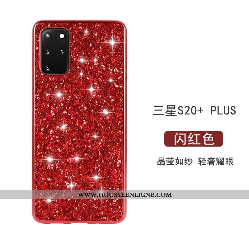 Housse Samsung Galaxy S20+ Personnalité Créatif Tout Compris Étoile Coque Légère Luxe Rouge