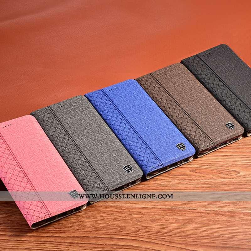 Housse Samsung Galaxy S20+ Protection Cuir Téléphone Portable Incassable Tout Compris Coque Lin Bleu