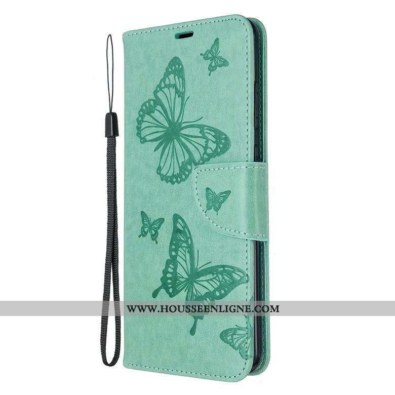Housse Samsung Galaxy S20 Protection Cuir Téléphone Portable Vert Fluide Doux Coque Étoile Verte