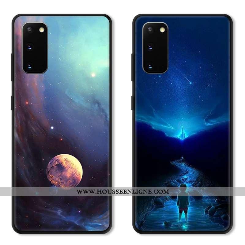Housse Samsung Galaxy S20 Protection Verre Téléphone Portable Dessin Animé Incassable Étui Coque Ble