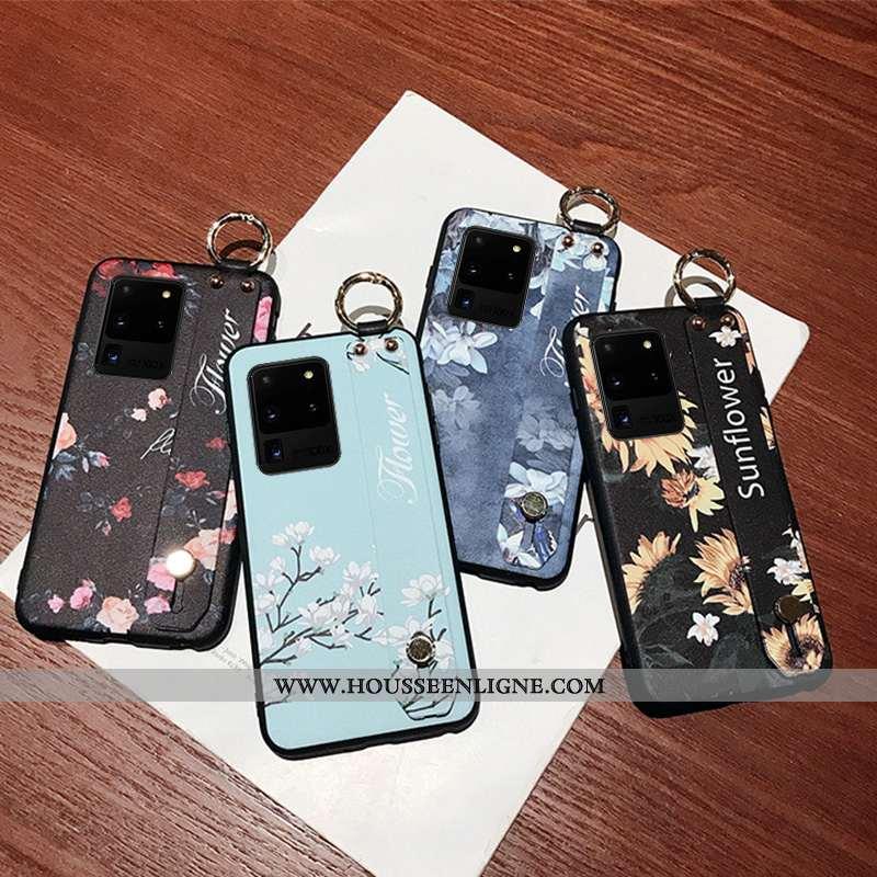 Housse Samsung Galaxy S20 Ultra Créatif Fluide Doux Étoile Téléphone Portable Bleu Personnalité Étui