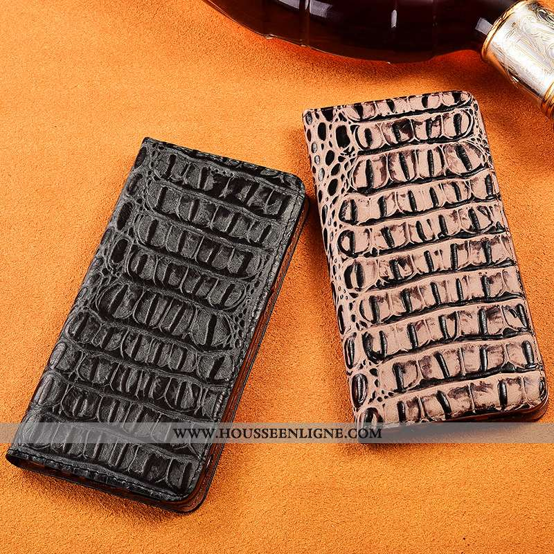 Housse Samsung Galaxy S20 Ultra Cuir Véritable Cuir Noir Protection Étui Incassable Coque