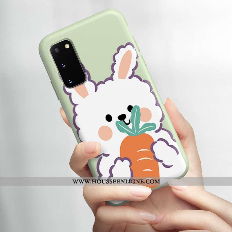 Housse Samsung Galaxy S20 Ultra Légère Fluide Doux Étoile Petit Téléphone Portable Lapin Verte