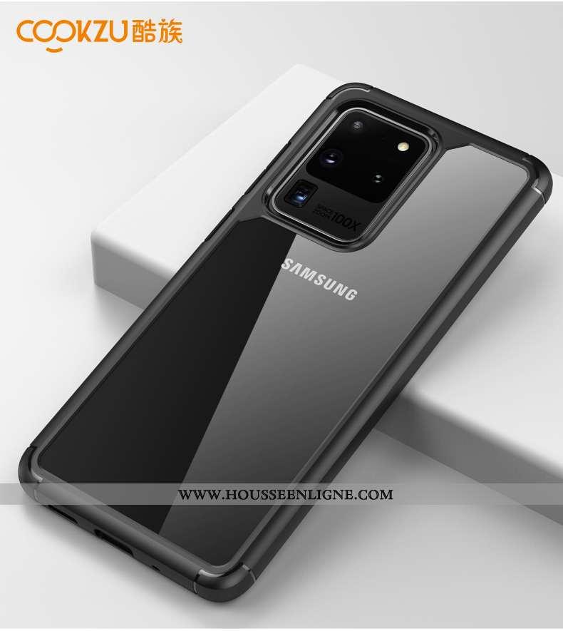 Housse Samsung Galaxy S20 Ultra Protection Incassable Étui Étoile Téléphone Portable Coque Noir