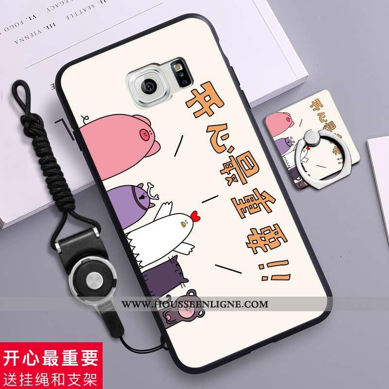 Housse Samsung Galaxy S6 Délavé En Daim Créatif Téléphone Portable Protection Étui Silicone Étoile B