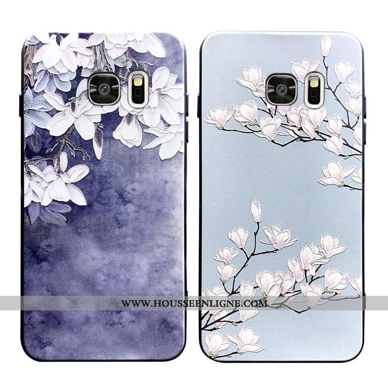 Housse Samsung Galaxy S6 Edge Fluide Doux Silicone Étoile Étui Tout Compris Bleu Net Rouge