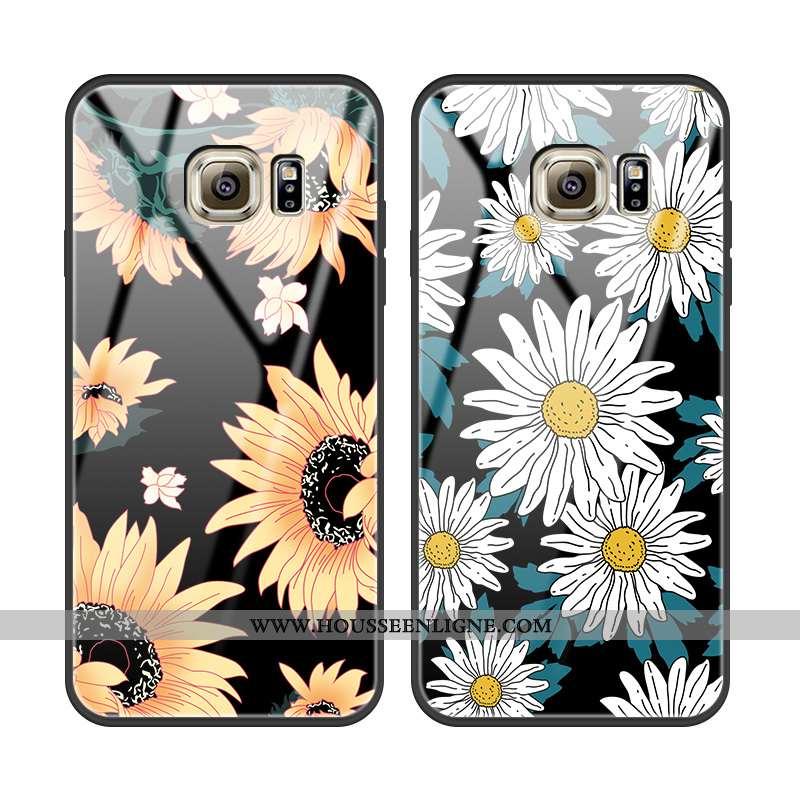 Housse Samsung Galaxy S6 Edge Protection Verre Incassable Étoile Étui Tournesol Téléphone Portable N