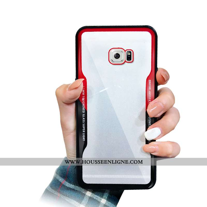 Housse Samsung Galaxy S6 Mode Silicone Téléphone Portable Simple Rouge Coque Étoile