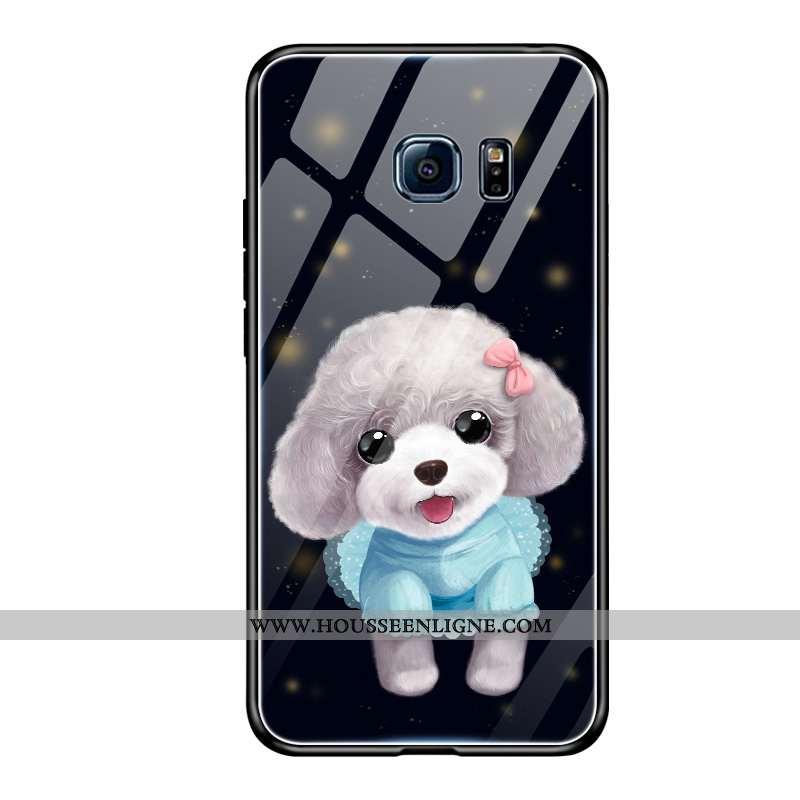 Housse Samsung Galaxy S6 Tendance Fluide Doux Étui Protection Étoile Tempérer Créatif Noir