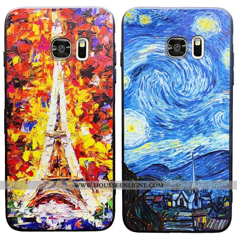 Housse Samsung Galaxy S6 Tendance Fluide Doux Amoureux Personnalité Tout Compris Coque Silicone Bleu