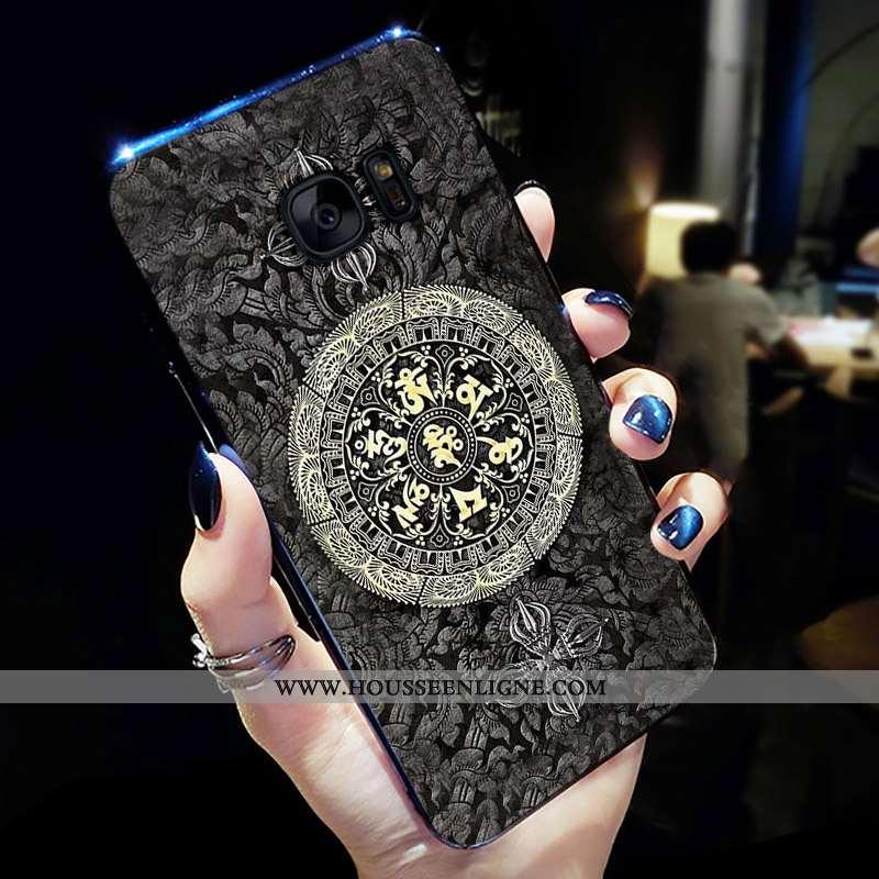 Housse Samsung Galaxy S7 Edge Personnalité Fluide Doux Tout Compris Silicone Coque Étoile Téléphone