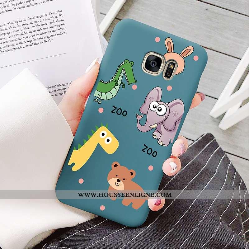 Housse Samsung Galaxy S7 Edge Silicone Mode Coque Luxe Protection Bleu Téléphone Portable