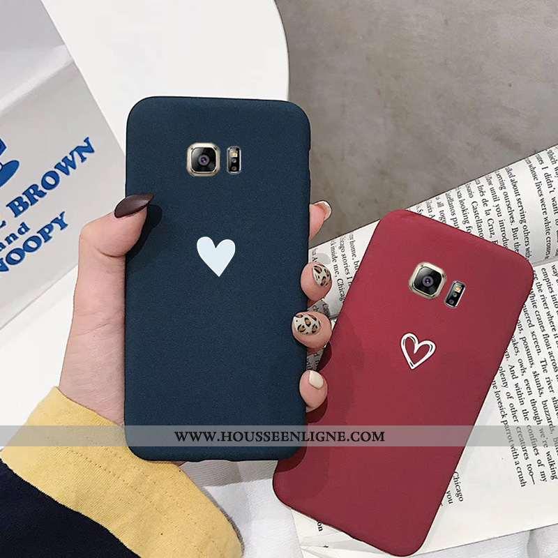 Housse Samsung Galaxy S7 Légère Délavé En Daim Téléphone Portable Ultra Étoile Coque Amoureux Noir