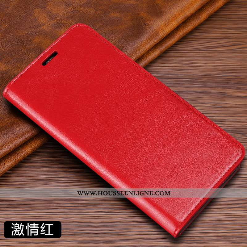 Housse Samsung Galaxy S7 Protection Cuir Véritable Cuir Luxe Téléphone Portable Rouge