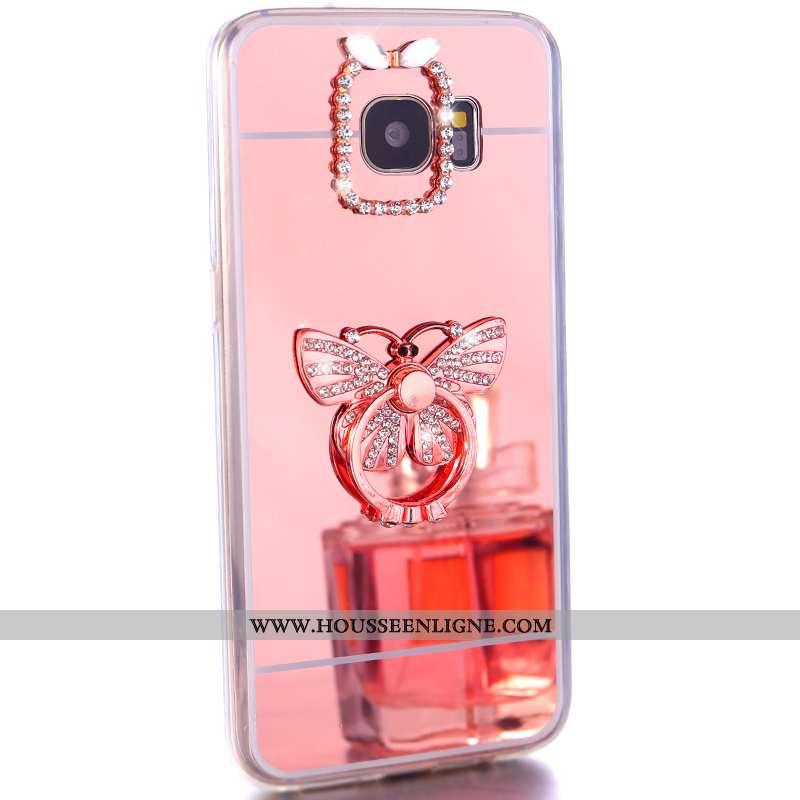 Housse Samsung Galaxy S7 Protection Fluide Doux Rose Téléphone Portable Étoile Étui Coque