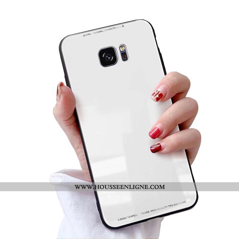 Housse Samsung Galaxy S7 Protection Personnalité Étui Tendance Coque Blanc Téléphone Portable Blanch