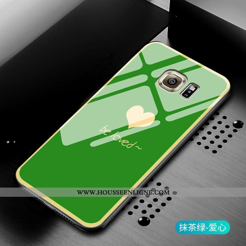 Housse Samsung Galaxy S7 Silicone Mode Amour Étoile Incassable Gris Coque Verte