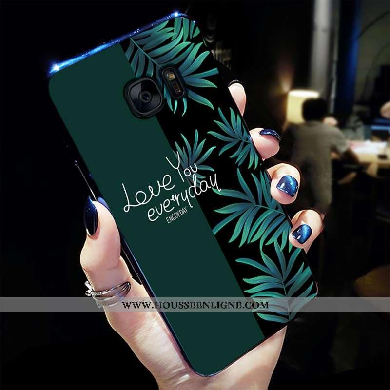 Housse Samsung Galaxy S7 Tendance Fluide Doux Tout Compris Protection Personnalité Créatif Net Rouge