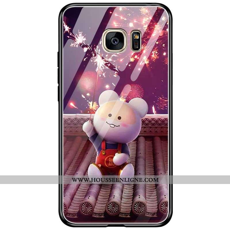 Housse Samsung Galaxy S7 Verre Dessin Animé Incassable Protection Étoile Nouveau Téléphone Portable