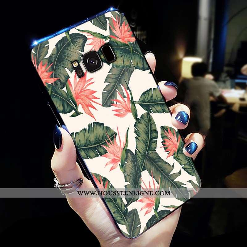 Housse Samsung Galaxy S8+ Fluide Doux Délavé En Daim Simple Net Rouge Personnalité Incassable Coque