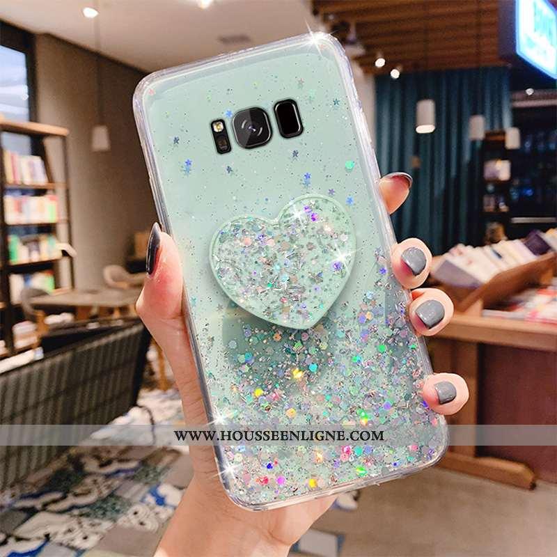 Housse Samsung Galaxy S8 Fluide Doux Mode Étui Coque Protection Transparent Vert Verte