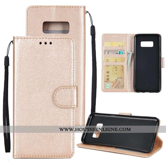 Housse Samsung Galaxy S8 Fluide Doux Silicone Coque Rose Étoile Cuir Véritable Téléphone Portable