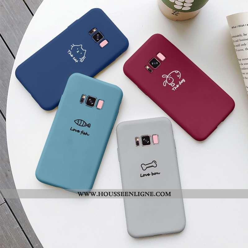 Housse Samsung Galaxy S8+ Personnalité Créatif Chiens Charmant Net Rouge Silicone Tendance Bleu