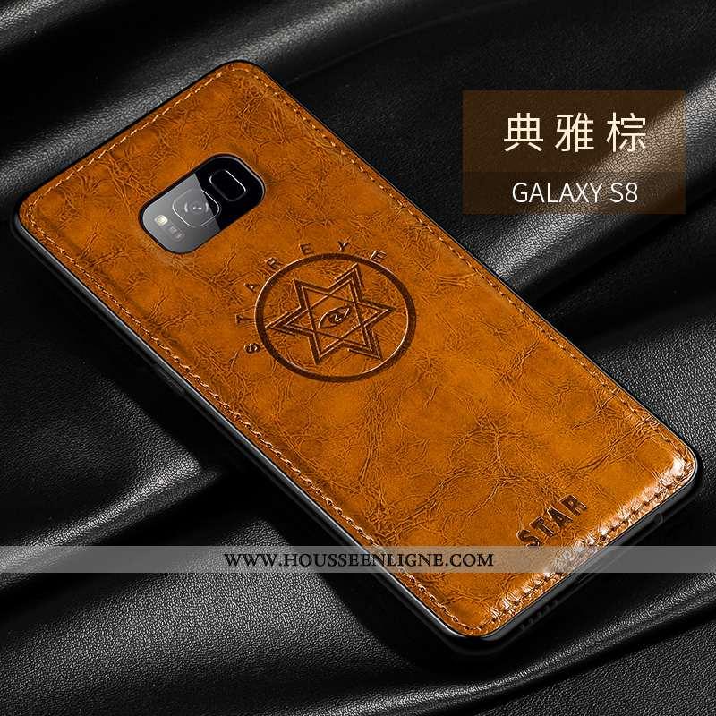 Housse Samsung Galaxy S8+ Personnalité Créatif Mode Protection Étoile Modèle Fleurie Ultra Marron
