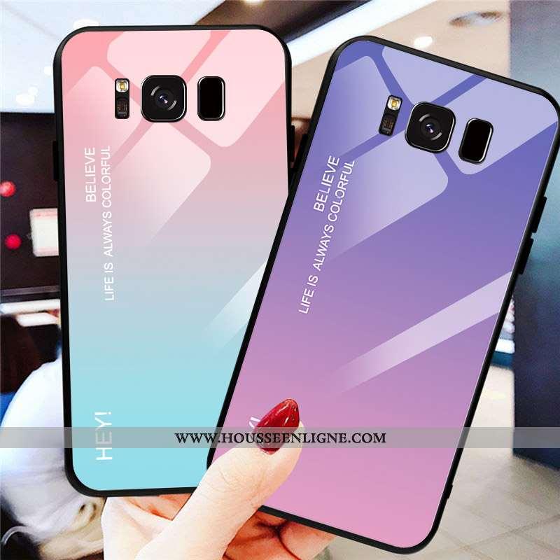 Housse Samsung Galaxy S8 Verre Personnalité Protection Téléphone Portable Étui Tendance Tout Compris