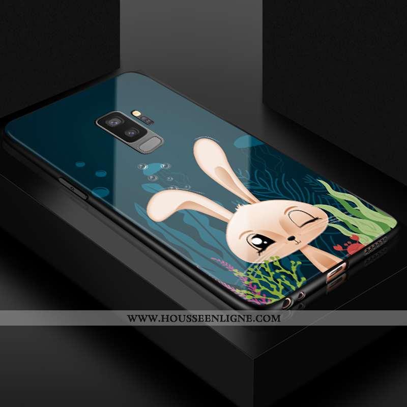 Housse Samsung Galaxy S9+ Charmant Fluide Doux Incassable Protection Téléphone Portable Vert Silicon
