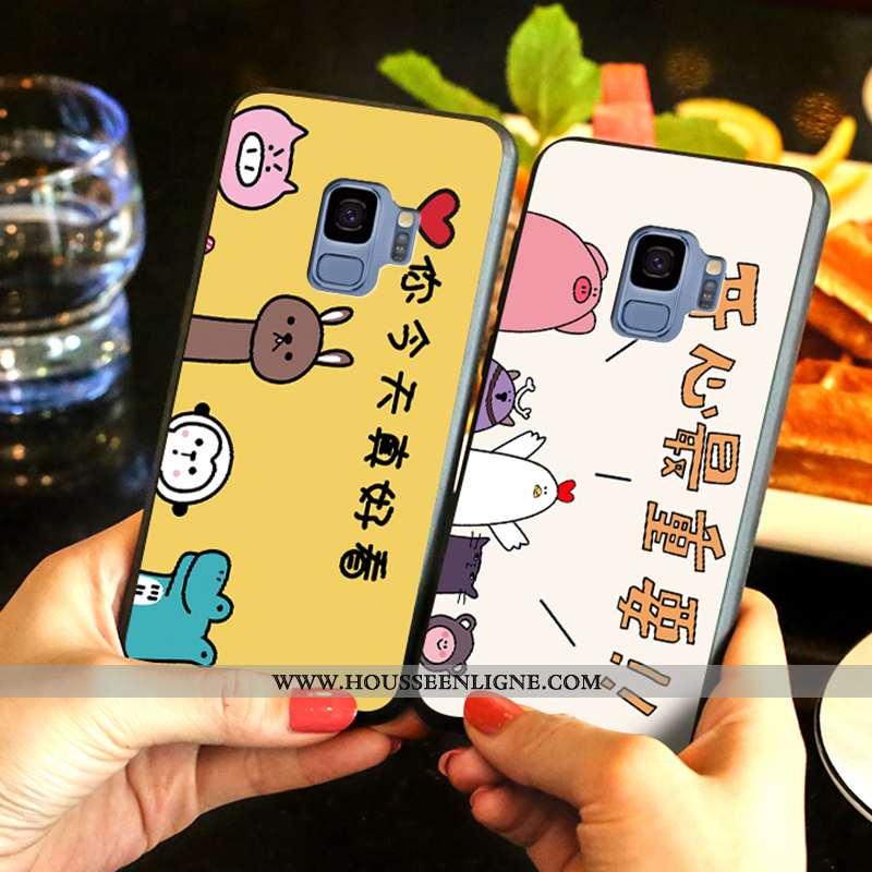 Housse Samsung Galaxy S9 Fluide Doux Mode Étoile Protection Charmant Téléphone Portable Délavé En Da