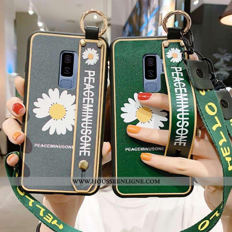 Housse Samsung Galaxy S9+ Personnalité Créatif Vert Ornements Suspendus Coque Tout Compris Silicone