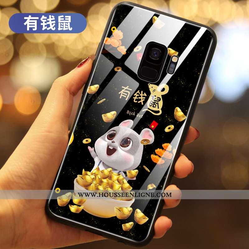 Housse Samsung Galaxy S9 Protection Verre Téléphone Portable Richesse Noir Nouveau Étui