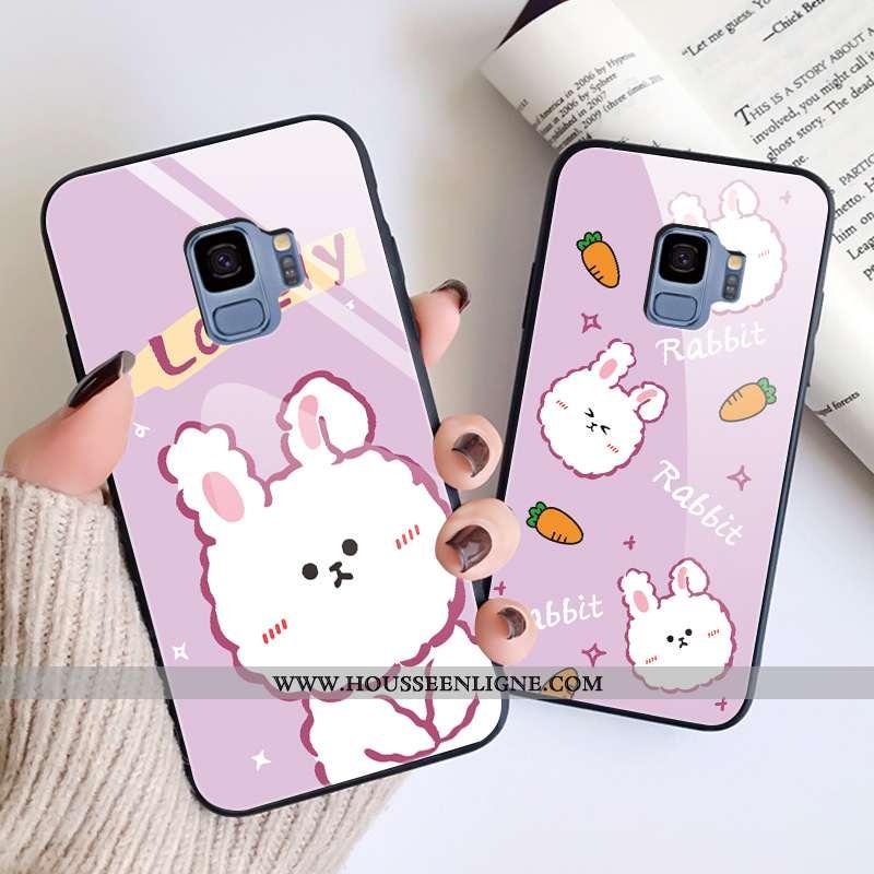 Housse Samsung Galaxy S9 Tendance Verre Tout Compris Dessin Animé Nouveau Téléphone Portable Étoile