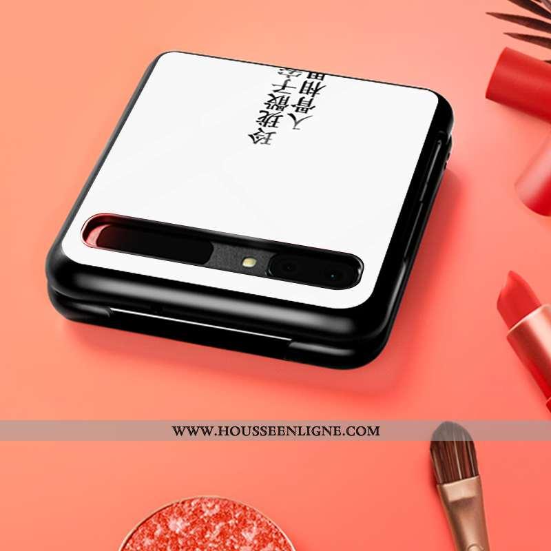 Housse Samsung Z Flip Personnalité Tendance Modèle Verre Coque Étoile Téléphone Portable Blanche