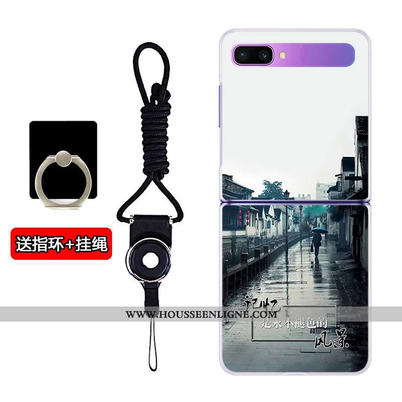 Housse Samsung Z Flip Transparent Plier Coque Personnalisé Téléphone Portable Étoile Difficile Blanc