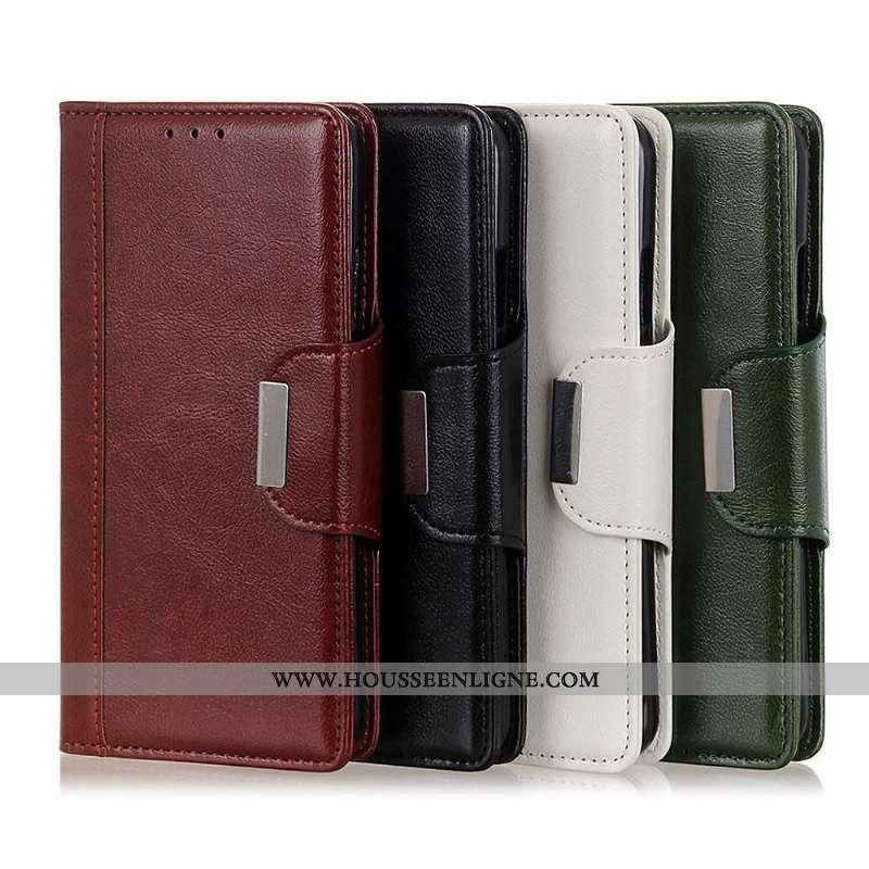 Housse Sony Xperia 1 Ii Protection Cuir Étui Nouveau Téléphone Portable Coque Rouge