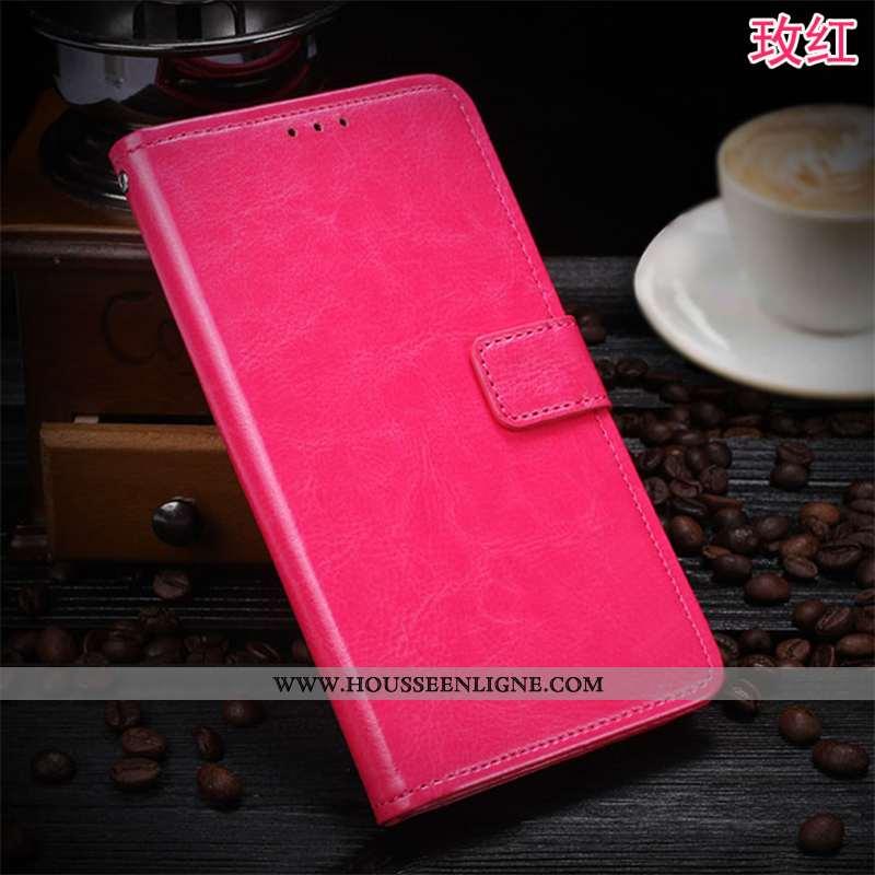 Housse Sony Xperia 1 Protection Business Coque Étui Rouge Carte Étoile Rose