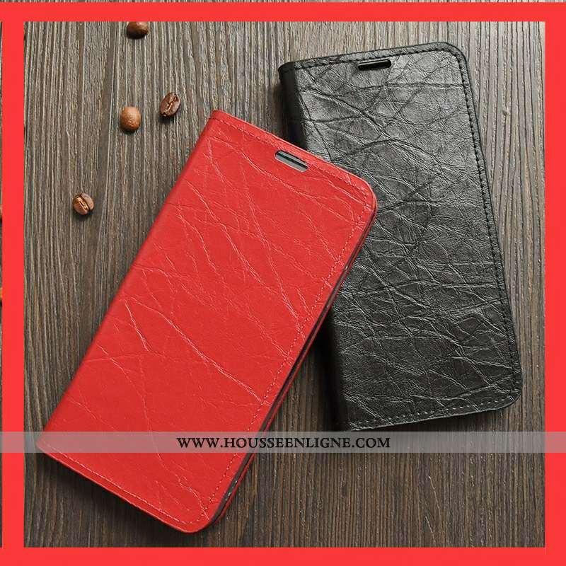 Housse Sony Xperia 1 Protection Cuir Téléphone Portable Coque Rouge
