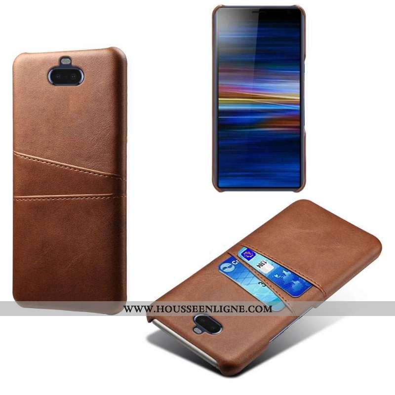 Housse Sony Xperia 10 Cuir Protection Qualité Difficile Kaki Coque Téléphone Portable Khaki