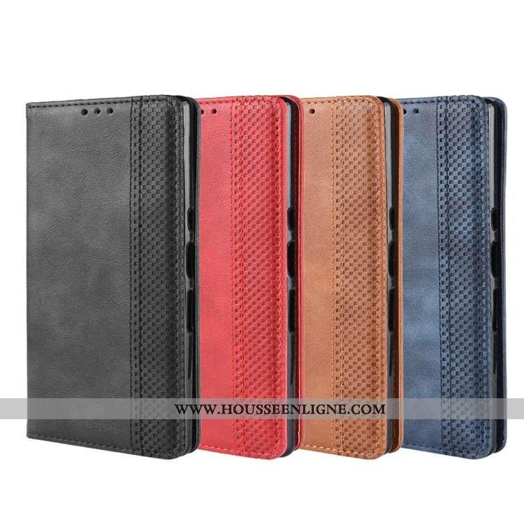 Housse Sony Xperia 10 Cuir Protection Téléphone Portable Coque Portefeuille Noir