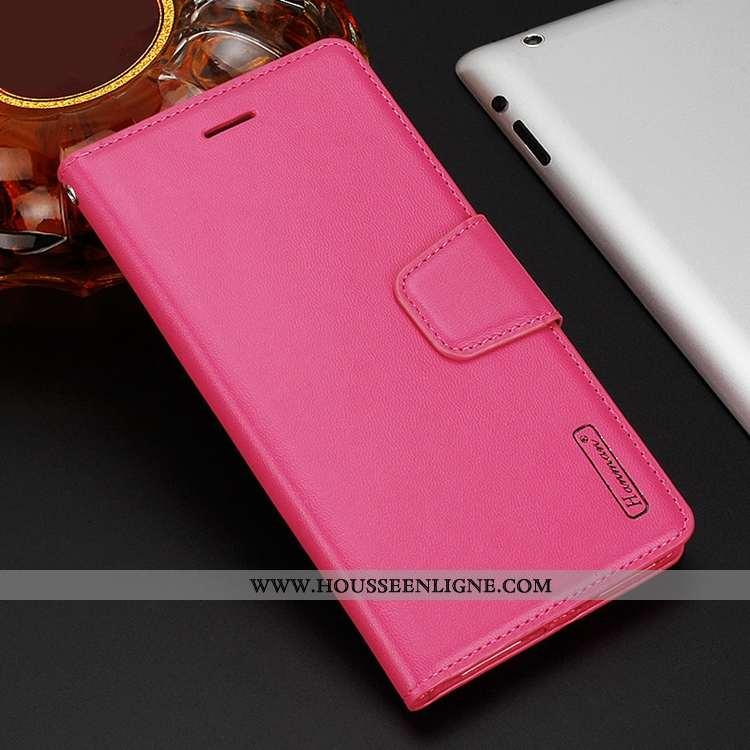 Housse Sony Xperia 10 Plus Cuir Étui Coque Téléphone Portable Clamshell Rouge Rose