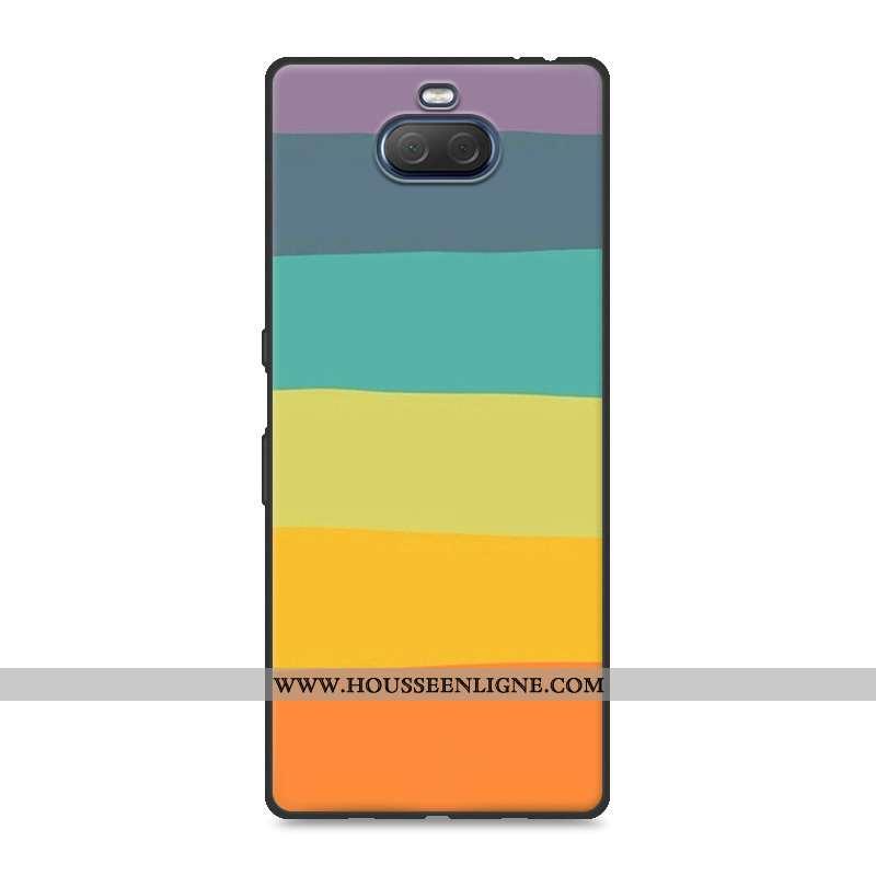 Housse Sony Xperia 10 Plus Fluide Doux Silicone Créatif Délavé En Daim Protection Résistant Aux Rayu