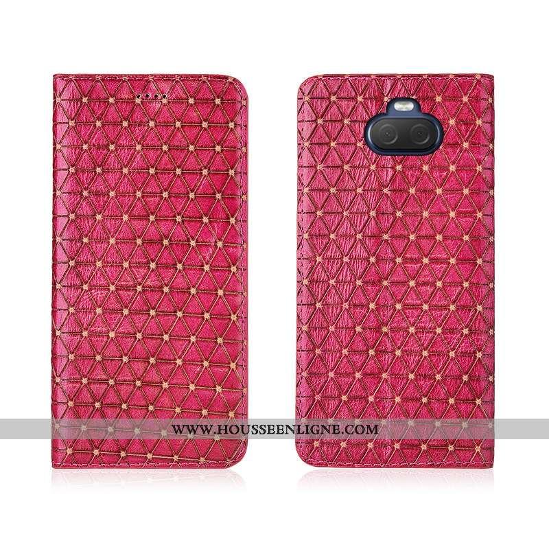Housse Sony Xperia 10 Plus Protection Délavé En Daim Cuir Clamshell Étui Silicone Téléphone Portable