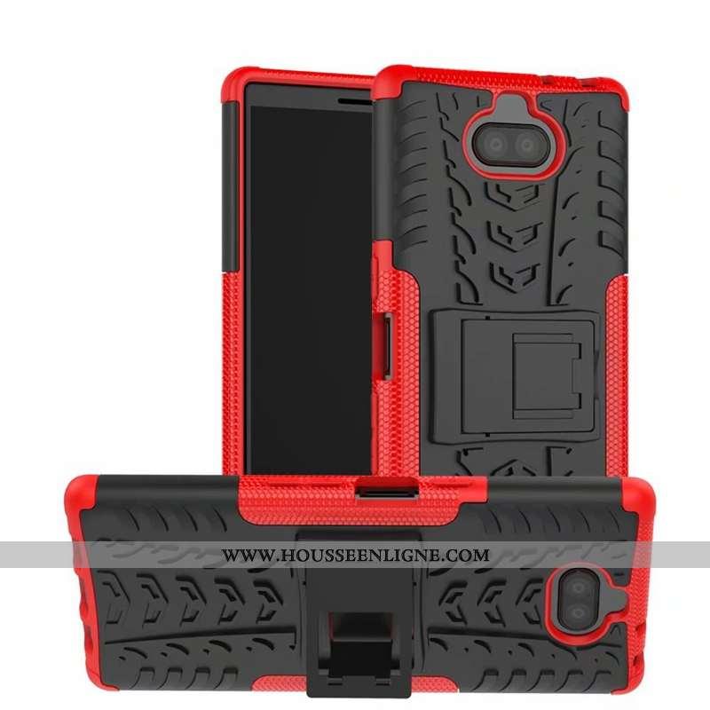 Housse Sony Xperia 10 Plus Protection Personnalité Coque Rouge Tout Compris Luxe Tendance