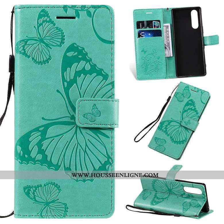 Housse Sony Xperia 5 Fluide Doux Silicone Téléphone Portable Incassable Protection Étui Verte