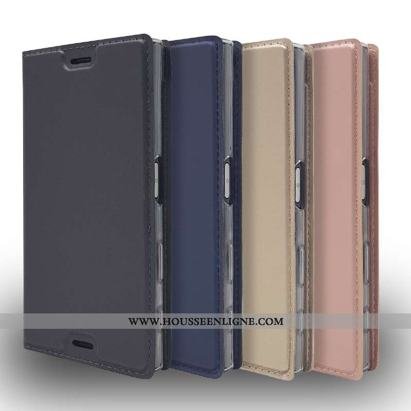 Housse Sony Xperia L2 Cuir Protection Téléphone Portable Ultra Étui Carte Noir